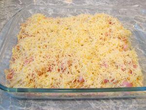 Фаршированные блины запеченные с ветчиной и сыром