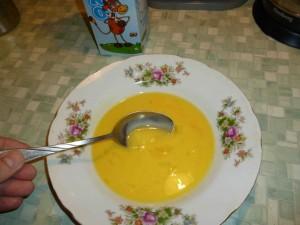 Взбитое яйцо с молоком