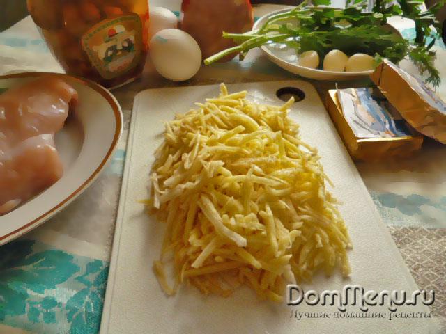 Картофель для салата гнездо глухаря
