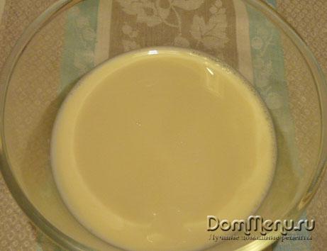 Яйцо с молоком в омлете