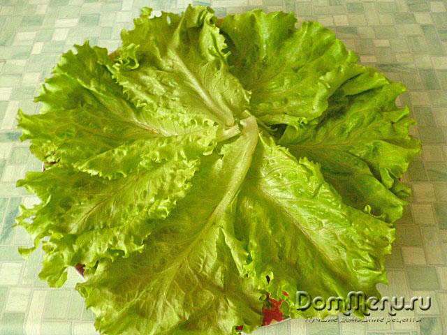 Vykladyvaem list'ya salata