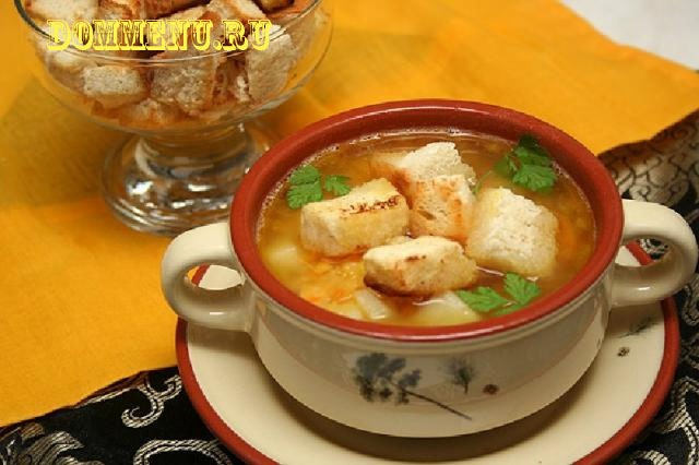 как приготовить гренки с сыром к супу