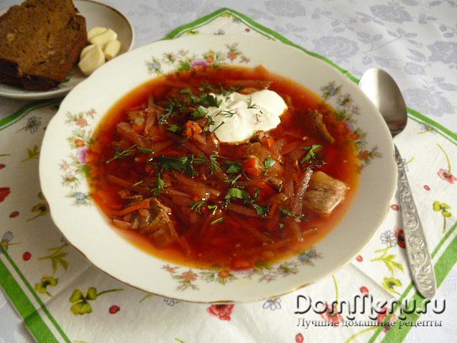 как приготовить русский борщ рецепт