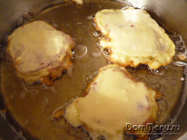 Мясо в кляре с сыром — 5