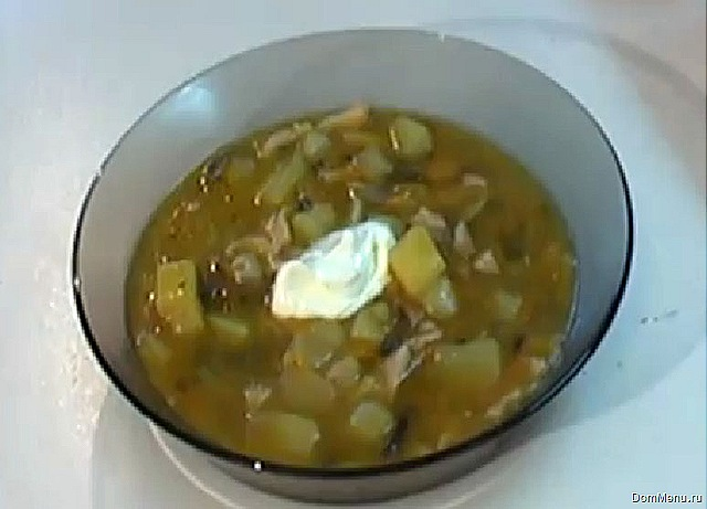 рецепты суп с грибами шампиньонами видео