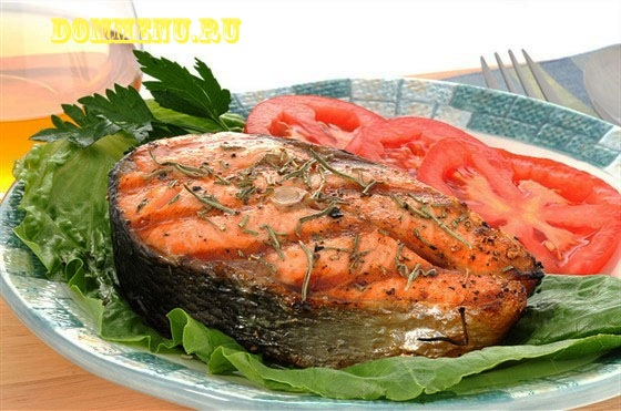 рецепты рыба красная запеченная в духовке.