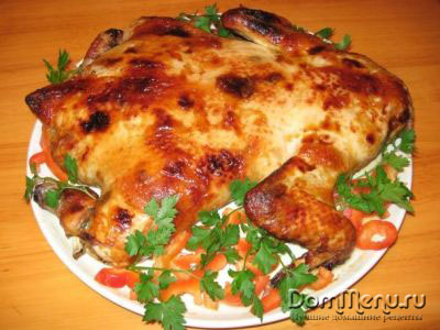 рецепт приготовления курицы фаршированной