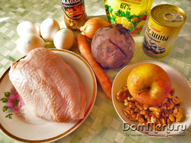рецепт салата ежик пошаговый рецепт